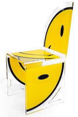 Demi-chaise design Smiley quarter assise à droite. Acrila.