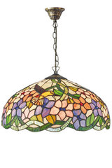 Grande suspension Tiffany Colibri pastel. Artistar.
