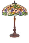 Lampe de table Tiffany tons pastels Colibri. Artistar.