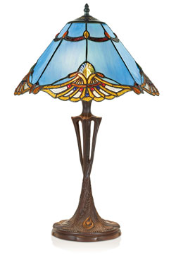 Lampe de table Tiffany trois troncs. Artistar.