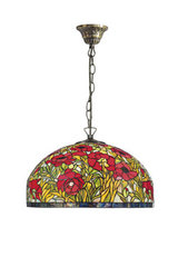 Suspension Tiffany Coquelicots. Artistar.