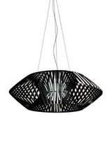 V geometric pendant light 80cm black. Arturo Alvarez.