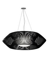 V large geometric pendant light 105cm black. Arturo Alvarez.