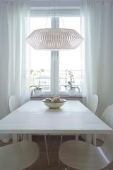 V large geometric pendant light 105cm white. Arturo Alvarez.