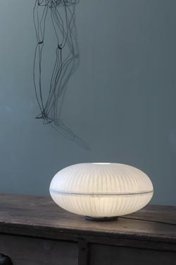 Crystal L ellipse table lamp. Céline Wright.
