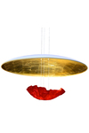 Eclaircie red and gold pendant. Céline Wright.