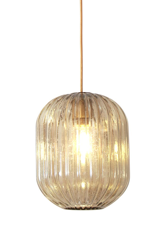 Hammam suspension lampion en verre or. Concept Verre.