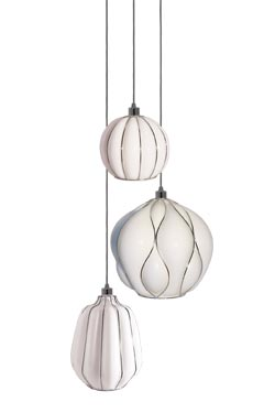 Casamance pendant 3 lights in chromed metal. Concept Verre.