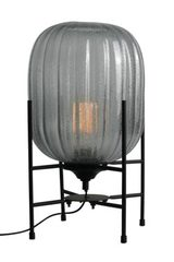 Hammam lantern table lamp in smoked glass. Concept Verre.