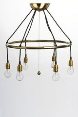 Minimalist chandelier 6 lights. Contract&More.