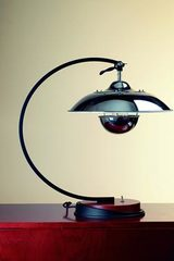 1930s style desk lamp in chrome-plated aluminum