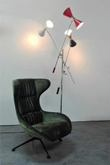 Large floor lamp Stilnovo three lights