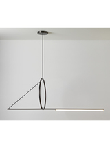 Ultra-design pendant, hanging circle, satin graphite finish. CVL Luminaires.