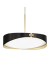 RING suspension en laiton finition satiné et graphite et diffuseur blanc. CVL Luminaires.