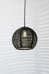 Suspension boule en rotin noir 30cm. Dark.