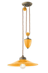 Counterweight pendant Colors tonic yellow. Ferroluce.