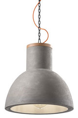Mateca large pendant in grey concrete. Ferroluce.