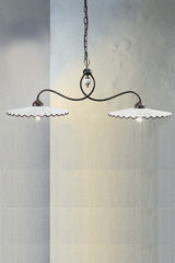 Suspension Aquila C165 double brown. Ferroluce.