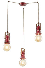 Triple pendant Urban red. Ferroluce.