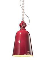 Vintage style chipped ceramic suspension lamp. Ferroluce.
