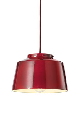 Petite suspension 50's rouge 23cm . Ferroluce.