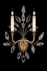 Applique de cristal en bouquet vieil or - Collection Crystal Laurel. Fine Art Lamps.