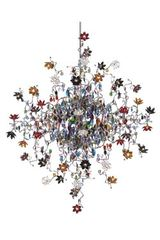 Jewel multicoloured 48-light chandelier . Harco Loor.