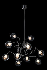 Riddle Six 10-light chandelier in clear glass. Harco Loor.