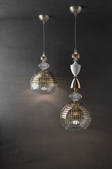 Amelie pendant sphere in two-tone crystal small model. Italamp.