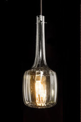 Bossanova pendant in smoke blown glass. Italamp.