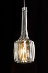 Bossanova pendant in transparent blown glass. Italamp.