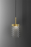 Quarzo suspension contemporaine avec diffuseur en cristal. Italamp.
