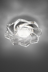 Flower-shaped spot in transparent glass. Italamp.