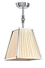 New Dessais pendant in pyramid shape chrome and ivory silk. Jacques Garcia.
