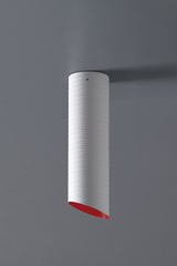Slice red and white ceiling lamp 36cm. Karboxx.