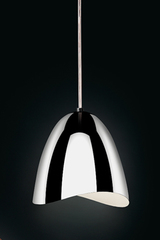 Mirage pendant chrome bell and LED lighting. Karboxx.