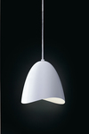 Mirage pendant white bell and LED lighting. Karboxx.