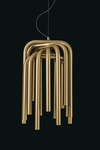 Pipes golden tubes pendant. Karboxx.