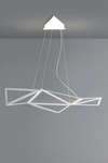 Starlight pendant with graphic design in white aluminum. Karboxx.