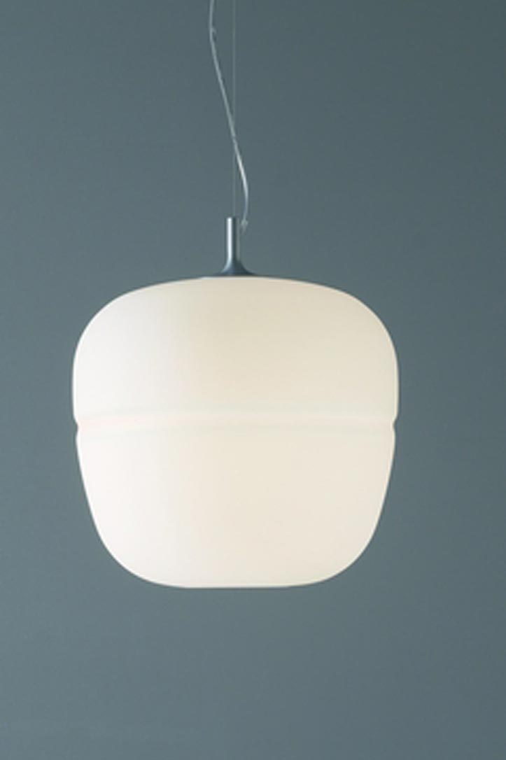 White frosted glass globe white Afra collection Pendant. Karboxx.