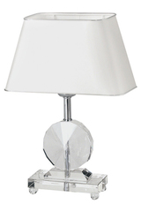 Diem clear glass table lamp. Le Dauphin.