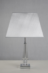 Glass table lamp and white shade Hyeres. Le Dauphin.