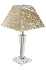 Golden and optical glass table lamp Viana Or. Le Dauphin.