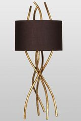 Sam gold table lamp small size. Le Dauphin.