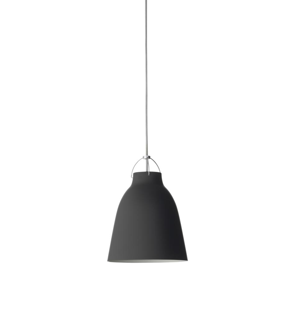 Taille moyenne suspension Caravaggio Matt noire. Light Years.