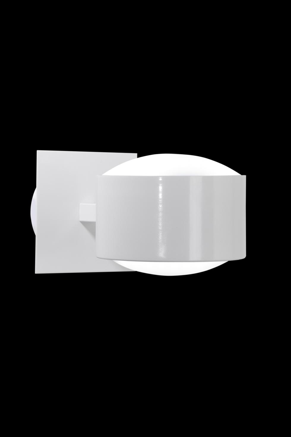 City W1 applique simple blanche. Luz Difusion.