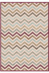 Tapis Zig-Zag Bordeaux mosaïque collection Provence 60X110. MA Salgueiro.