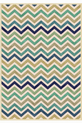 Tapis Zig-Zag Océan collection Provence 60X110. MA Salgueiro.