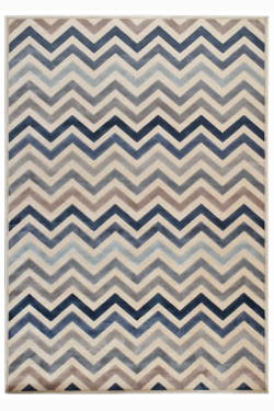 Tapis Zig-Zag pierre bleu collection Provence 60X110. MA Salgueiro.