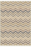 Tapis Zig-Zag vert mousse collection Provence 60X110. MA Salgueiro.